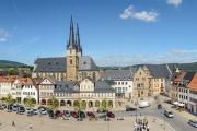 Panorama Marktplatz Saalfeld mit Liden