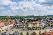 Panorama Marktplatz Saalfeld mit Rathaus