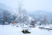 Spielplatz Hohenwarte im Winter
