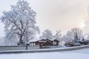 an der Sperrmauer Hohenwarte im Winter