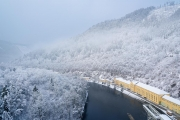 Pumpspeicherkraftwerk Hohenwarte im Winter