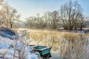 frostiger Wintermorgen an der Saale