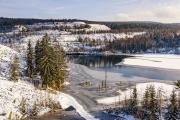 Schieferpark Leehesten im Winter